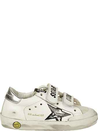 Golden Goose Old School Pensatr Leather Upper And Striped Suede