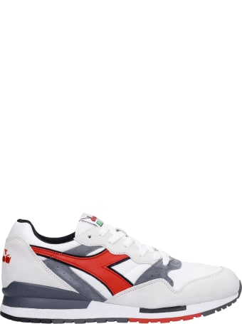 Diadora Intrepid Og Sneakers In White Suede And Fabric