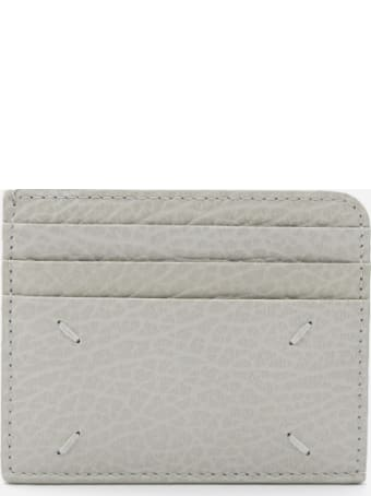 Maison Margiela Leather Card Holder With Contrasting Logo Print