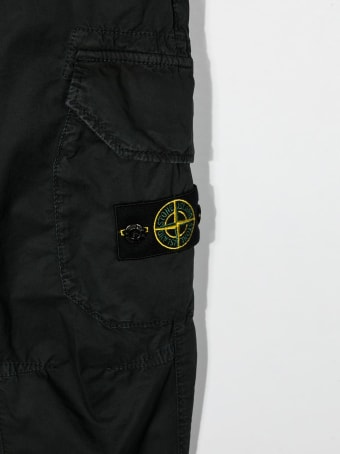 Stone Island Junior Logo-patch Detail Trousers