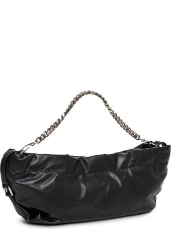 Alexander McQueen Mini Bundle Black Leather Crossbody Bag With Logo