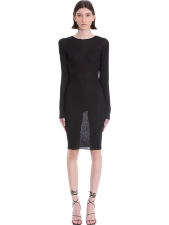 Laneus Dress In Black Viscose
