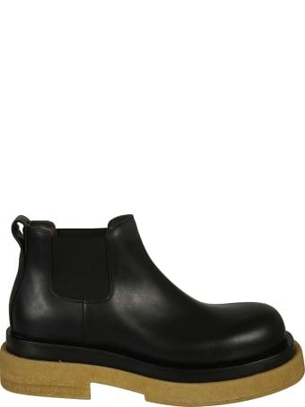 Bottega Veneta Elastic Sided Leather Boots
