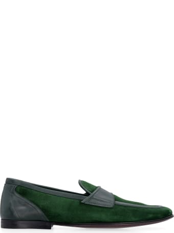 Dolce & Gabbana Suede And Leather Loafers