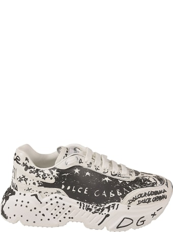 Dolce & Gabbana Graffiti Logo Sneakers