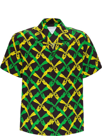 Bottega Veneta Rayon Shirt With 1987 Graphic Print