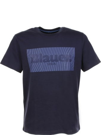 Blauer T-shirt With Front Logo