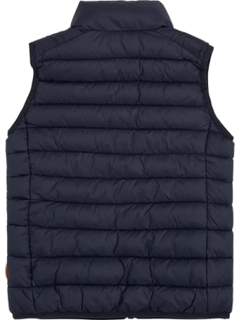 Save the Duck Andy Blue Ecological Sleeveless Down Jacket