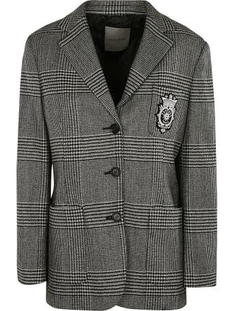 Ermanno Scervino Logo Embroidered Check Pattern Jacket