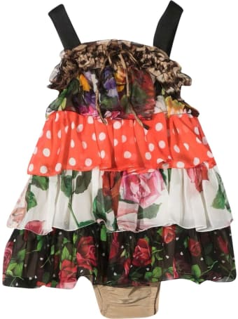 Dolce & Gabbana Newborn Patterned Dress