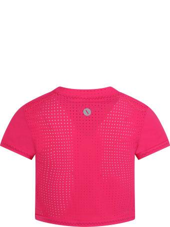 Sapopa Fuchsia T-shirt For Girl With Logo