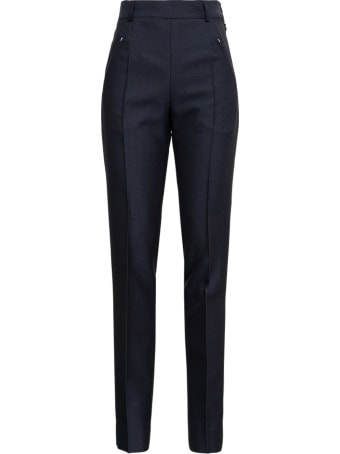 Maison Margiela Anthracite Grey Tailored Pants In Wool Blend