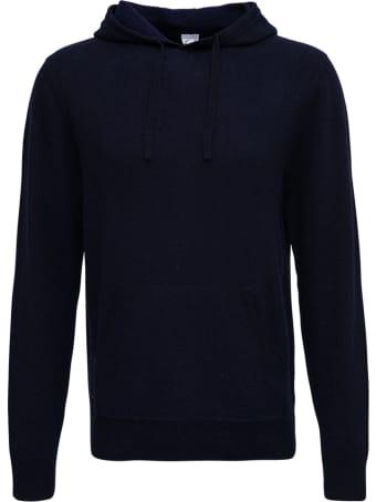 Aspesi Blue Wool Hoodie