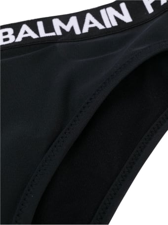 Balmain Kids Two-piece Logo Band Swimsuit