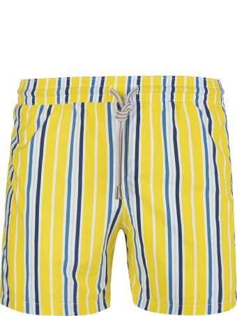 Capri Code Blue Striped Yellow Swimsuit