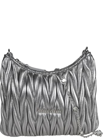 Miu Miu Matelassé Crystal Embellished Shoulder Bag