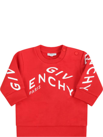 Givenchy Red Sweatshirt For Babyboy With Logo