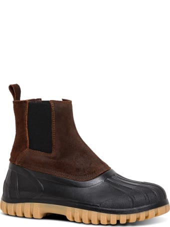 Diemme Balbi Rubber And Leather Ankle Boots