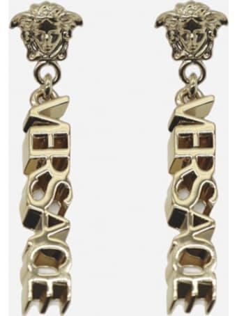 Versace Drop Earrings With Medusa Detail
