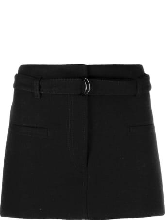 Philosophy di Lorenzo Serafini Black Cotton-virgin Wool Blend Miniskirt