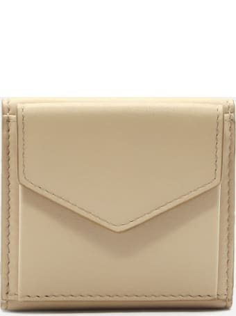 Maison Margiela Leather Wallet With Contrasting Logo Detail