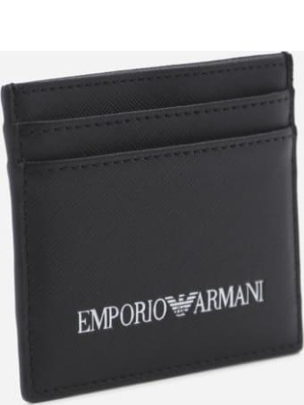 Emporio Armani Card Holder With Contrasting Logo Print