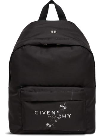 Givenchy Black Nylon Backpack With Logo