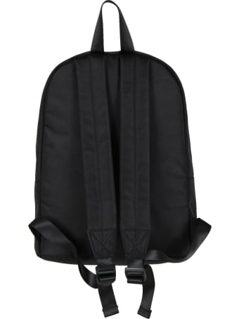 Kenzo Kids Black Backpack For Boy With Elephant