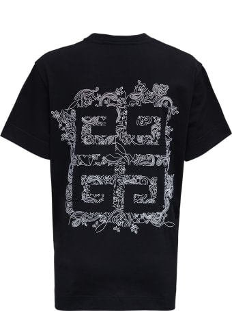 Givenchy Black Cotton T-shirt With Logo Print