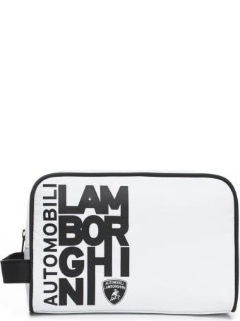 Automobili Lamborghini Wash Bag With Destructured Logo
