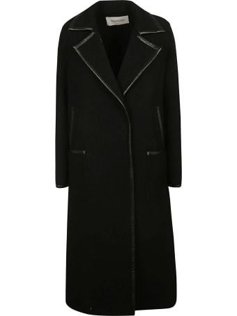 Valentino Buttoned Long Coat