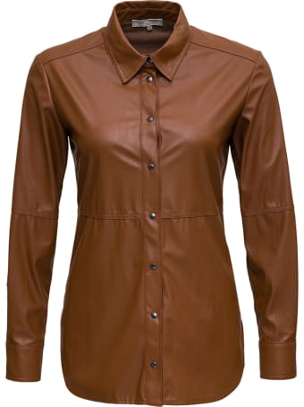 Antonelli Cyclops Shirt In Brown Leatheret