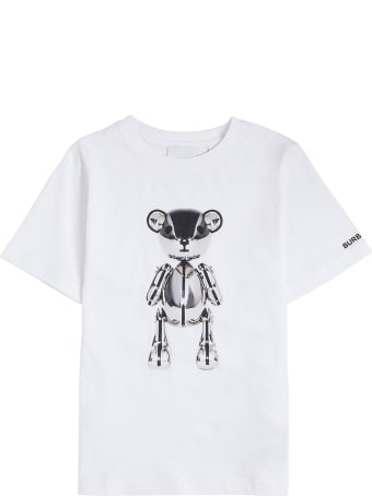 Burberry White Cotton T-shirt With Print
