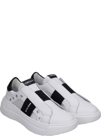 Marc Ellis Sneakers In White Leather