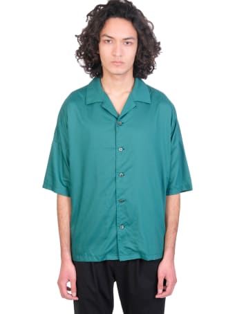 Attachment Shirt In Green Synthetic Fibers