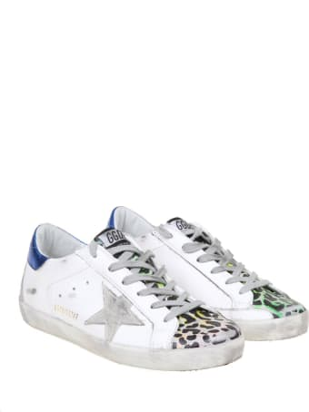 Golden Goose Super Star White With Leopard Print