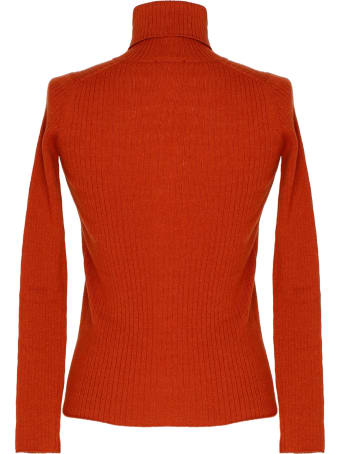 alyki Red Wool And Cashmere Turtleneck Sweater