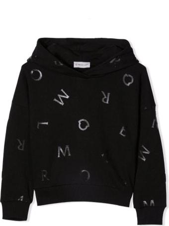 Moncler Black Cotton Hoodie