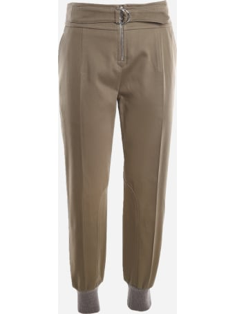 Chloé Cotton Trousers With Matching Belt