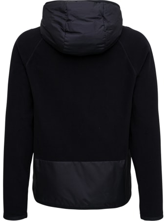 Moncler Grenoble Tricot Nylon And Fabric Cardigan With Logo Print