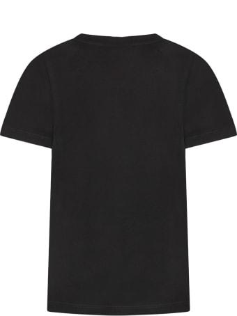 Balmain Black Kids T-shirt With Logo