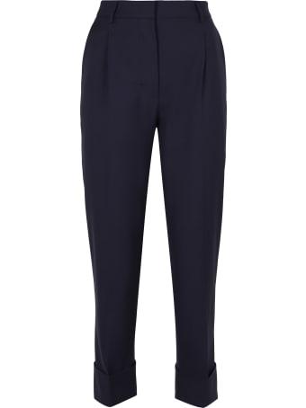 Prada Virgin Wool Tailored Trousers