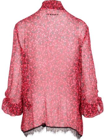 Ermanno Firenze Rayon Floral Pattern Shirt