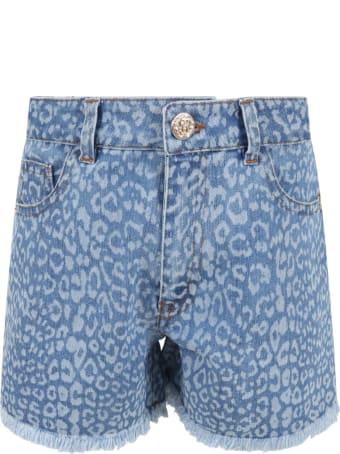 Roberto Cavalli Light Blue Short For Girl