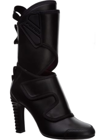 Fendi Promenade Heeled Ankle Boots