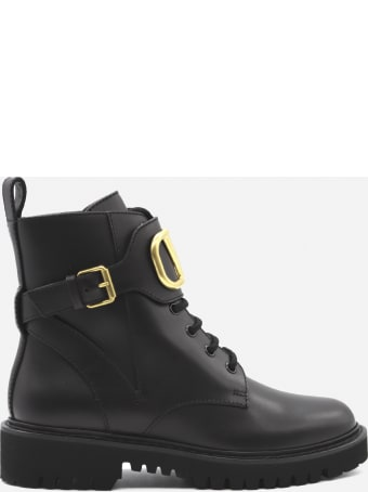 Valentino Garavani Vlogo Signature Leather Ankle Boots