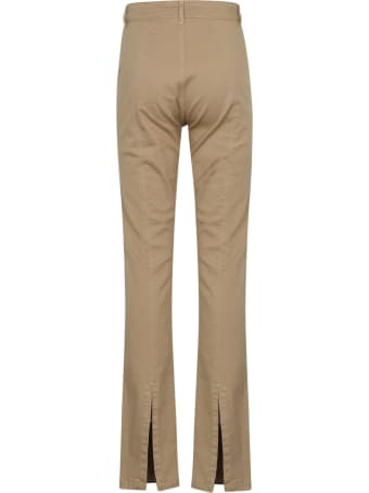 Federica Tosi Rear Slit Plain Trousers