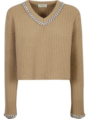 Giuseppe di Morabito Ribbed Knit Cropped Sweater