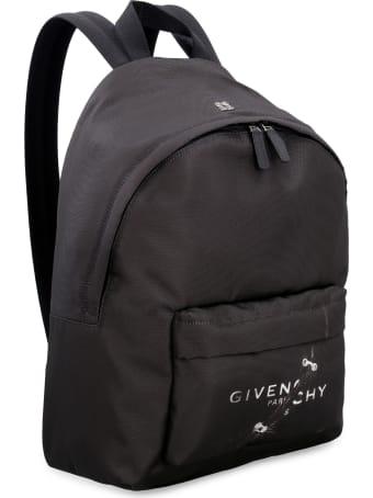 Givenchy Essential U Logo Detail Nylon Backpack