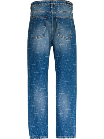 Balenciaga Jeans With Allover Signature